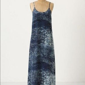 Anthropologie Partimi Blue Maxi Dress, size 8